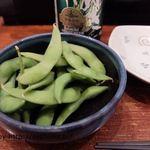鳥長 - お通しの枝豆