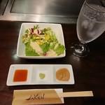 鉄板Diner JAKEN - セットのサラダ&お肉のソース