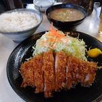 99238627 - まるとくロース定食+豚汁