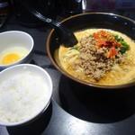 99246121 - 地獄の担担麺(中級編)&雑炊セット&