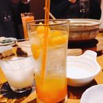 彩蔵  - 冷凍みかんサワー(^_^*)とヨーグルトマッコリ