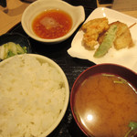 99250491 - 天ぷら定食+ご飯大盛