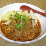 秦唐記 - まずは、期間限定メニューの「香辣牛肉麺スープ付き」850円を注文。