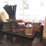 自家製麺 ほうきぼし - 卓上調味料