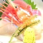 旬彩 花さか - 料理写真:牡丹海老や鮪のお造り