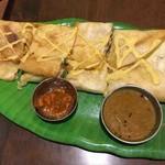 インド家庭料理 ミレンガ - チキン&チーズドーサ