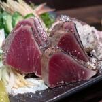 みや澤 - 料理写真:鰹わら焼きタタキ(塩)