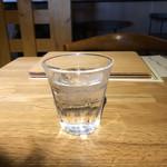 おふろcafe utatane - 冷たい水。       うまし。
