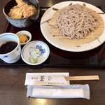 99262718 - 海老天丼とおそばのランチ(大盛)