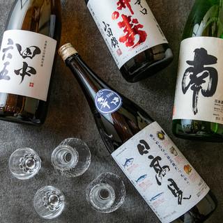 唎酒師が選ぶこだわりの日本酒は季節毎にラインナップを一新!