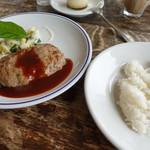 カフェ&ヤド コモ - 宮古牛と合挽ジューシーハンバーグ
