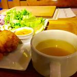 おふろcafe utatane - チキンフリットプレート。       美味し。