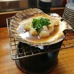 浜茂鮨 - ほたて殻焼き