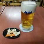 99266787 - サービスのお通しと生ビール(中)