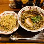 康明 - 料理写真:中華そば(並)半チャンセット