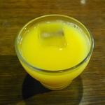 Cafe倫敦館 - モーニングセットのオレンジジュース