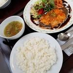 レストラン ユっぴー - 料理写真:チーズハンバーグセット 1193円