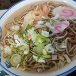 舘の丸食堂 - 天ぷらそば、260円。薄すぎて味がないそうです(^_^;)
