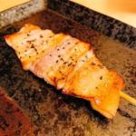 焼き鳥 あきちゃん - 「豚バラ:塩(200円)」