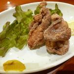鳥料理 有明 - 地鶏の唐揚げ