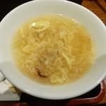 桃杏樓 - 玉子スープ
