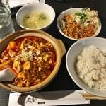 中華料理 成都 - ・「麻婆豆腐セット(\626)」