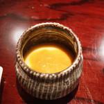 東麻布 天本 - ぶりかま出汁の茶碗蒸し、コノワタのせ