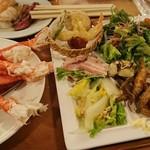 カトレア - 1812_カトレア_夕食ビュッフェ@3,888円_蟹はうーん。。。の味です。まぁ、ホテルビュッフェですし、、、