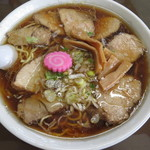 あやめ食堂 - 料理写真:醤油チャーシュウラーメン700円+大盛り50円