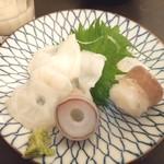 アキバの酒場 - 生蛸は刺し好し!天ぷら好し!