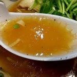 にぼらや - 鶏ガラ&昆布&煮干しのスープ