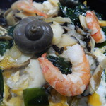 Nakanishishokudou - さざえはふっくら柔らかな食感です。コリコリではありません。