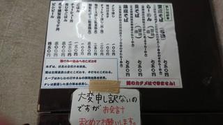 麺屋 裕 - メニュー
