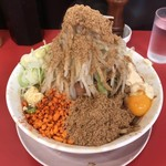 鷹の眼 - 料理写真:まぜそば  ¥830 豚1枚       ¥90 魚粉         ¥50