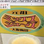 梅田 ミックスジュース - 阪神名物 ミックスジュース ( ´θ`)
