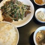 ラーメン&中華 恵伊登 - ニラレバ炒め定食 ライス大盛り