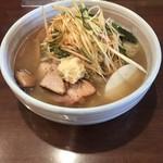 麺屋 おざわ - 生姜付塩ラーメン(辛ネギ)
