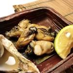 寿司 仁 - いろは島産牡蠣松前焼き