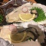 いかの墨 - 生牡蠣