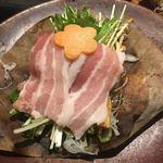 いかの墨 - 朴葉味噌焼き