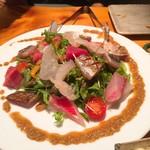 飯ト酒 梔 - 海鮮彩りサラダ