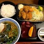 sobadokorokinugasa - 牡蠣フライ定食