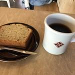 アエル コーヒーストップ - ハンドドリップのエルサルバドルとバナナケーキで880円