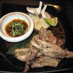 一鴻 - Cコース(地鶏と旬菜の炭火焼き)