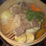 一鴻 - Cコース(阿波牛と旬菜のせいろ蒸し)