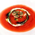 99317195 - トマトときゅうりのガスパチョ 小海老とサワークリーム添え