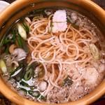 華元 - 出汁は鹿児島県産の鯖、鰹、ウルメ節を使用しているとのこと。