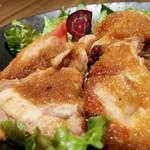 鶏すき焼き はら志の - 鶏ももの生姜焼き