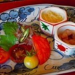 9933064 - トマト4種とマグロカルパッチョ、ソーメンかぼちゃ