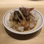 鶏と野菜 炭焼 ひさどり - 突き出し鬼おろしポン酢